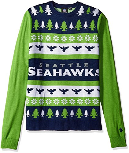 Seattle Seahawks One Too Many Ugly Sweater Large
