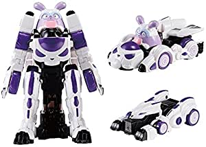 Youngtoys Mini Monster Toy MONKART MONCHA BEATROID Transforming Robot Shooting Car with Sword