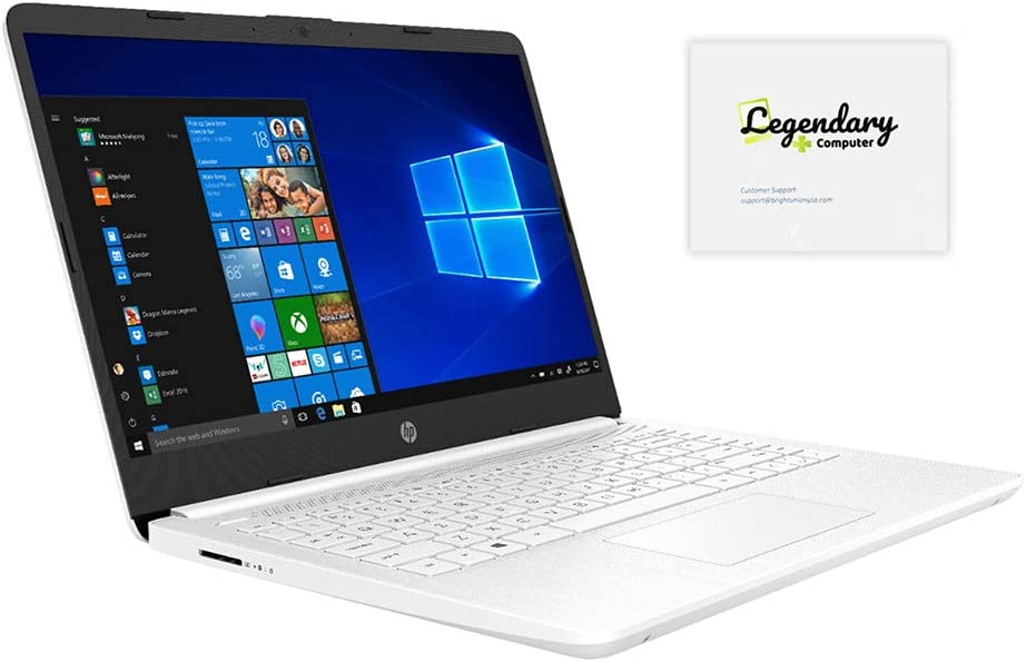 "HP 2020 14"" HD Laptop, Intel Celeron N4020 up to 2.8 GHz, 4GB DDR4, 64GB eMMC Storage, Webcam, HDMI, WiFi 5, Windows 10 S with Office 365 /Legendary Mousepad (Google Classroom or Zoom Compatible)"