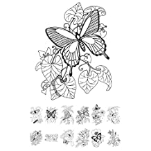 """Adult Coloring Book (24 pages 6""""x8"""") Flowers and Butterfly FLONZ Vintage Designs"""