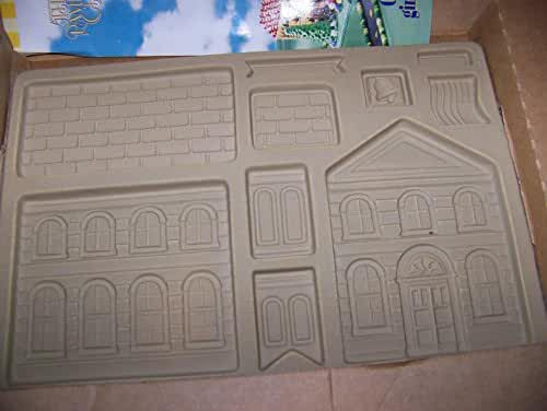 Pampered Chef Stoneware Gingerbread School Post Office Mold
