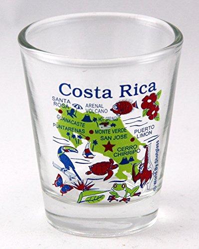Costa Rica Map Shot Glass