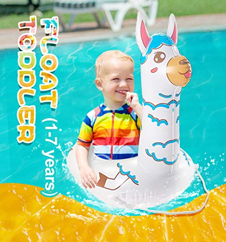 TRSCIND Toddler Pool Float, Kids Pool Floats, Llama Baby Swimming Float, Floaties for Toddlers Kids (1-7 Years)
