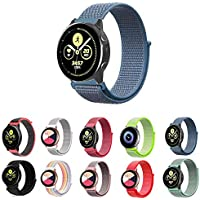 Pulseira Nylon Loop para Samsung Galaxy Watch Active 40mm e 44mm - Galaxy Watch 42mm BT - Gear S2 Classic - Gear Sport…