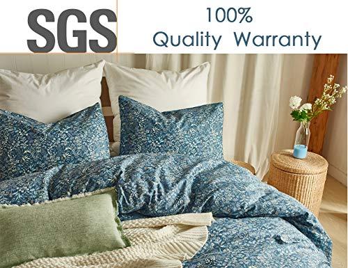 Opcloud King Bedding Duvet-Cover-Set, 600 TC Cotton Luxury Soft Comforter-Cover-Set,1 Duvet Cover and 2 Pillow Shams Bedding-Set
