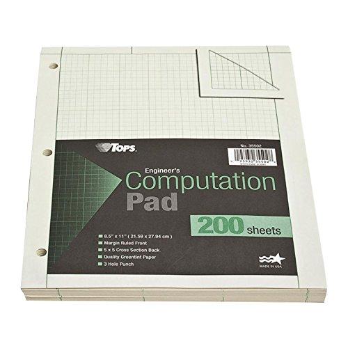 TOPS Engineering Computation Pad, 8-1/2