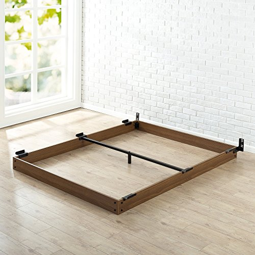 Zinus 5 Inch Wood Bed Frame for Box Spring & Mattress Set, Keep Pets From Beneath Your Bed, Queen