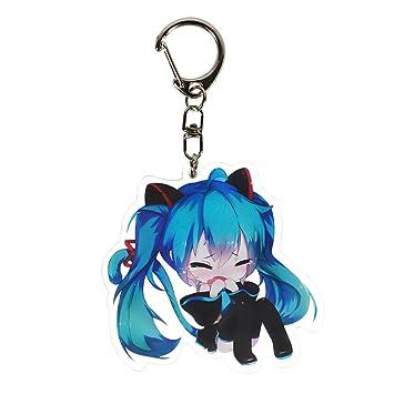Tianmeijia Hatsune Miku Anime Figure Acrylic Keyring Keychain (Style07)
