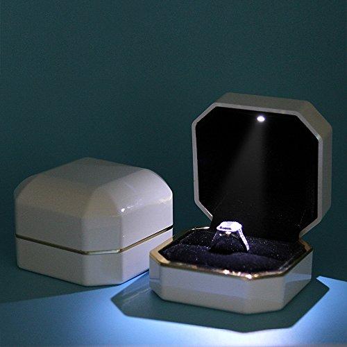 Ring Box Asaps Square White Velvet Wedding Ring Box With
