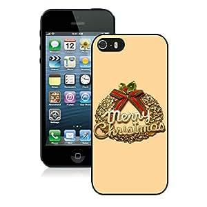 Custom-ized Phone CaseChristmas Wreath iPhone 5 5S TPU Case 3 Black