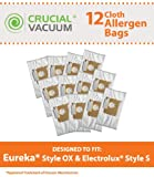 eureka 6991 - Think Crucial 12-Pack Electrolux Harmony Oxygen Style OX Cloth Allergen Vacuum Bags Fits Models: 6500A, 6991, 6992, 6994, 6996, 6997, 6998, 6999; Compare To Part # 61230, 61230A, 61230B and 61230C