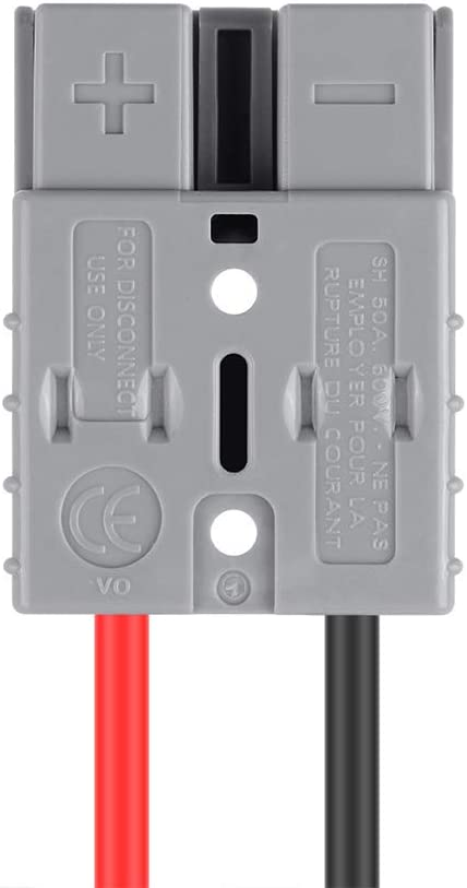 Electric Forklift Charger Charging Plug Line with O Ring Battery Connect Quick Connector High Current 50A 600V Battery Connector Charging Plug