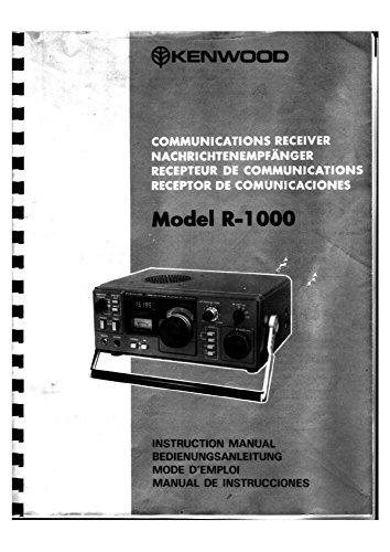 Kenwood R-1000 Receiver Owners Instruction Manual Reprint [Plastic Comb]