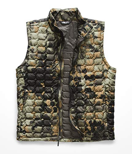 - The North Face Men's Thermoball Vest New Taupe/Green Macrofleck/Camo Print X-Large