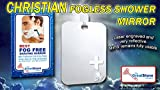 CHRISTIAN - LARGE Great Shave Original Fog-Free Hanging Shower Mirror for Fogless Shaving Larger size!