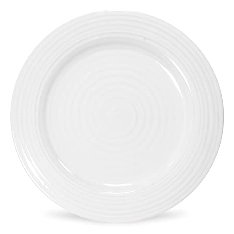 Portmeirion Sophie Conran White Dinner Plate  sc 1 st  Amazon.com : dinner plate chinaware - pezcame.com