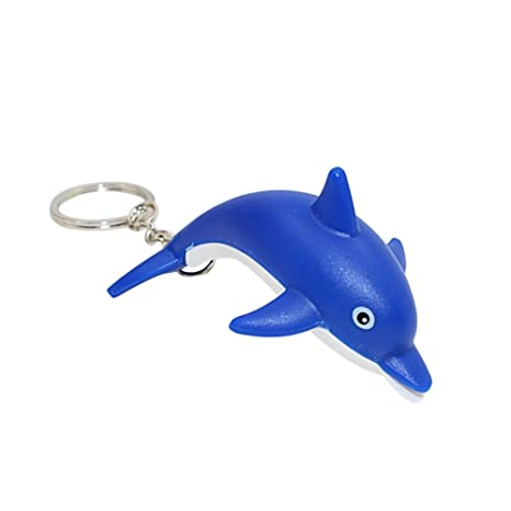 yunnuo Promi Cute delfines LED Light sonido llavero Key Ring ...