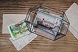 Medium Wedding Card Holder Glass Box Terrarium for Cards Geometric Mailbox