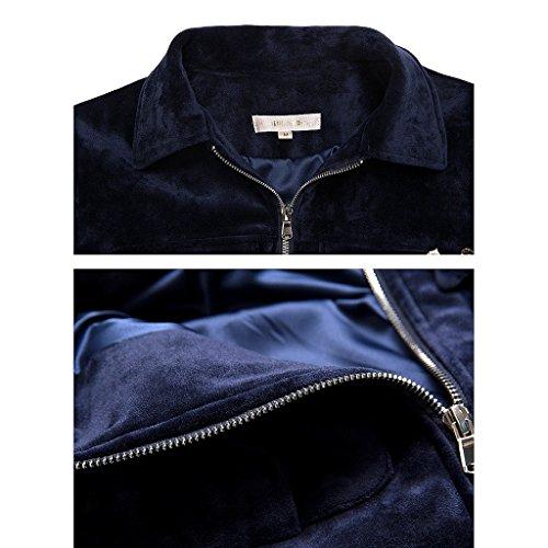 Breve Stile Giacca Da Camicia Colore Kong In L Di Dimensioni Hong Corto Baseball Blu Autunno Abbigliamento BIdwqzSYI