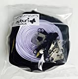 #5: Nuburi - Zipper by The Yard - 5 Yards of Make Your Own Zipper - 20 Zipper Pulls (White/Black)