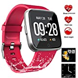 Fitness Tracker, Activity Tracker Fitness Watch with Heart Rate Monitor Color Screen,Waterproof Smart