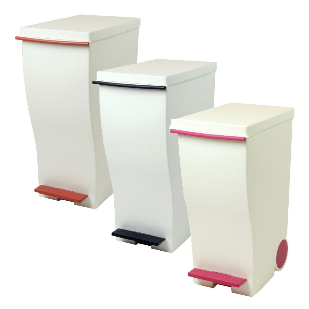 岩谷マテリアル kcud 30 スリムペダル 3個セット ゴミ箱 ごみ箱 ダストボックス おしゃれ ふた付き クード (レッド×ブラウン×ピンク) B07429ZSSD レッド×ブラウン×ピンク レッド×ブラウン×ピンク