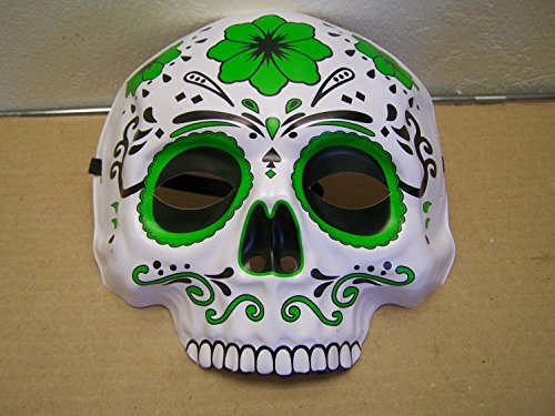 Dia de los Muertos Day of the Dead Sugar Skull Halloween Mask - -