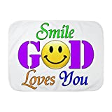 Royal Lion Baby Blanket White Smile God Loves You