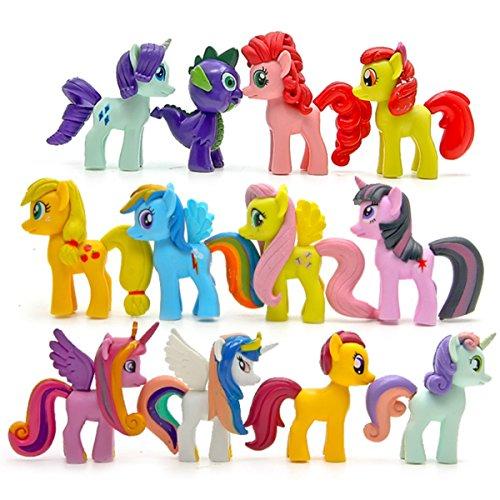 STEAM 12 Piece Little Pony Toys Figurines Playset, 2.8