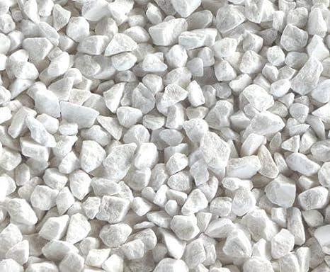 acquaverde Piedras granuladas de mármol Blanco de Carrara Ø 9 – 12 mm Saco 10 kg Breccia para jarrón jardín decoración: Amazon.es: Jardín