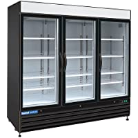 Central Exclusive 69K-056 72 Cu Ft. Swing Glass Door Merchandiser - Refrigerator, 3 Doors, 81W
