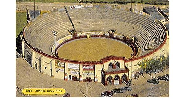 Juarez Bull Ring Tarjeta Postal Bullfighting 1954 at ...