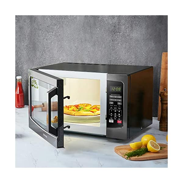 Toshiba EM131A5C-BS Microwave Oven with Smart Sensor Easy Clean Interior, ECO Mode and Sound On-Off, 1.2 Cu.ft, Black… 6