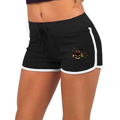 Running Shorts Black Pumpkin Winding Vines With SmileSummer Pants Girl Gym Women Shorts Tempo