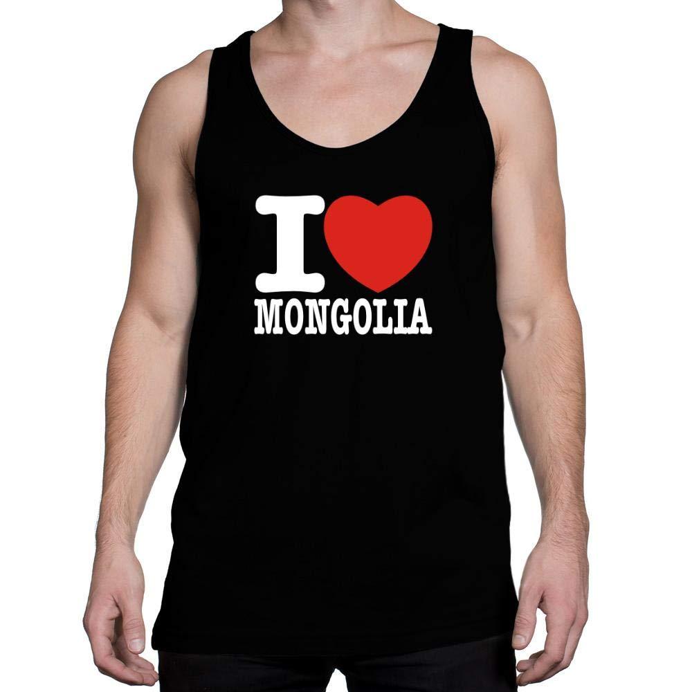 Idakoos I Love Mongolia Bold Font Tank Top