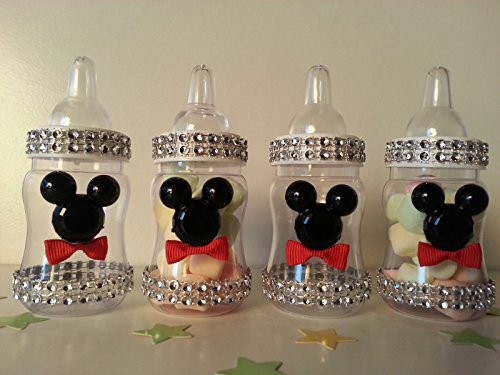 12 Mickey Mouse Fillable Bottles Baby Shower Favors Prizes Game Boy Decorations]()