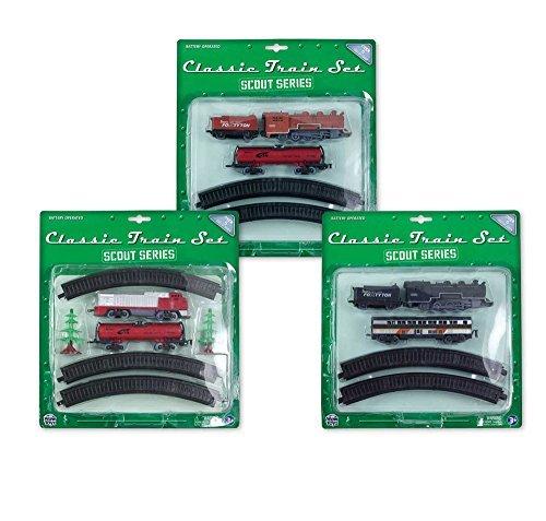 WowToyz Scout Series 10-Piece Train Set (3 Pack) Aa Diesel Engine Set
