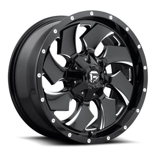 "Chevy Bolt Pattern >> 20"" Inch Fuel Cleaver Black Machine Dually Wheels Rims ..."