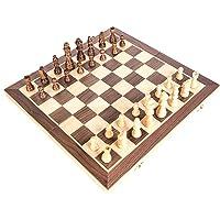 مجموعة رقعة شطرنج خشبية مغناطيسية محمولة وقابلة للطي بقياسات عالمية للحفلات ونشاطات العائلة من فيست نايت