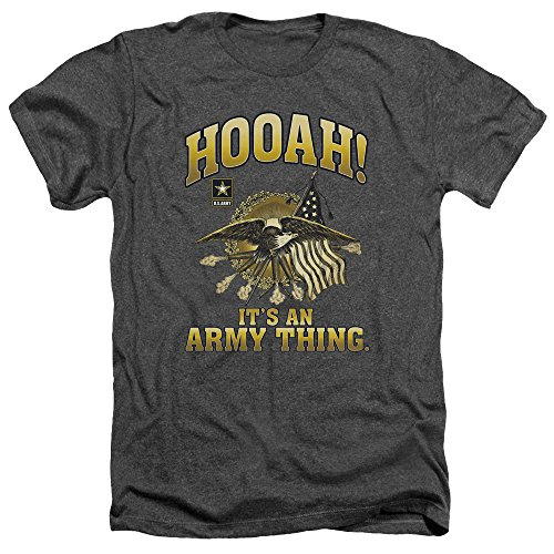 ARMY United States Army Hooah! It's An Army Thing Cannons Logo Adult HA T-Shirt