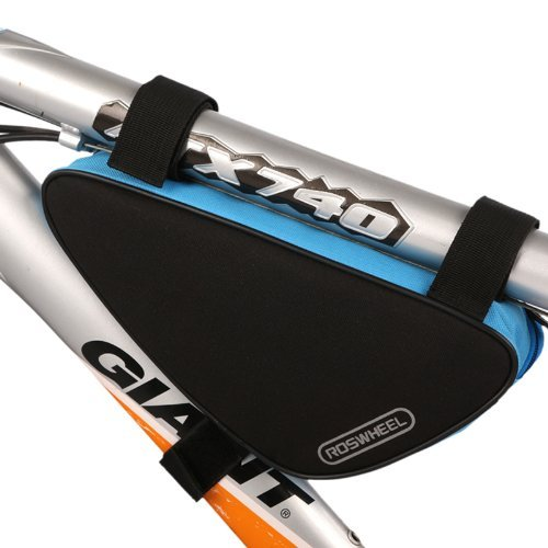 Triangle Cycling Bike Bicycle Front Tube Frame Pouch Bag(Blue) - 5