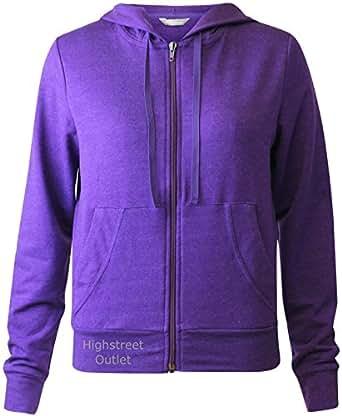 Marks and Spencer M&s Ladies Hooded Gym Hoodie Zipped Top Sweatshirt Cardigan (USA6 UK10)