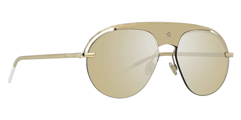 62bdb13327ebf Amazon.com  Dior Evolution2 Gold Gold Lens Mirror Sunglasses  Clothing