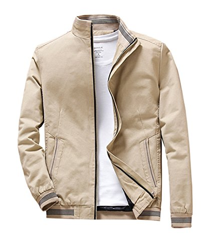 Nothar Mens Stand Collar Cotton Coat Outerwear, Front for sale  Delivered anywhere in USA