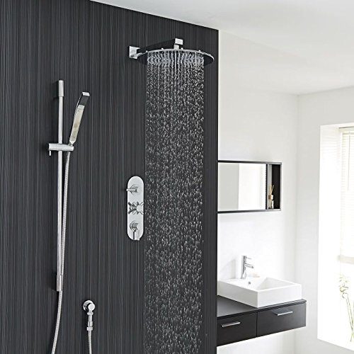 Hudson Reed - Tec Concealed Thermostatic Shower System With Triple Valve, 12