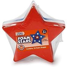 Foam Stars, Red-White-Blue, 35 Foam Shapes