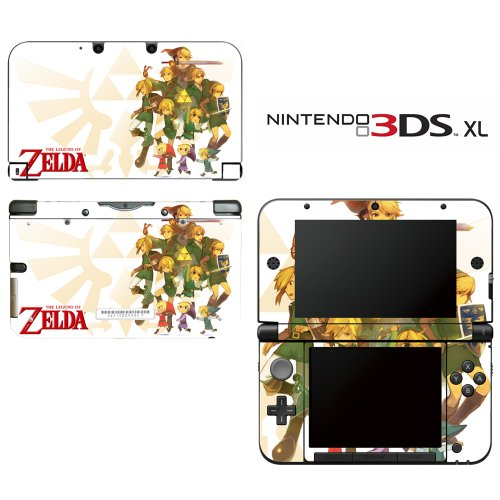 The Legend of Zelda Decorative Video Game Decal Cover Skin Protector for Nintendo 3DS XL