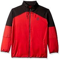 Akademiks Men's Long Sleeve Jacket, Red, X-Large