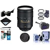 Nikon 28-300mm f/3.5-5.6G ED-IF AF-S NIKKOR VR Lens, USA Warranty - Bundle with Filter Kit, Flex Lens Shade, DSLR Follow Focus and Rack, Cleaning Kit, Lens Cap, Cap Leash, Software Package and More