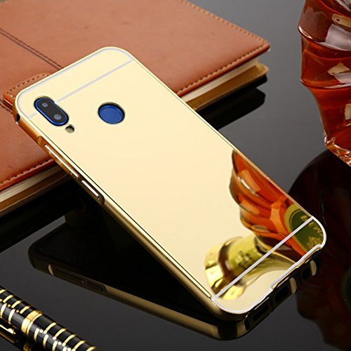 timeless design ad95a 296a1 MOBI CASE Luxury Aluminum Metal Bumper with PC Mirror Back Cover Case for  Xiaomi Redmi Note 5 Pro(Gold)